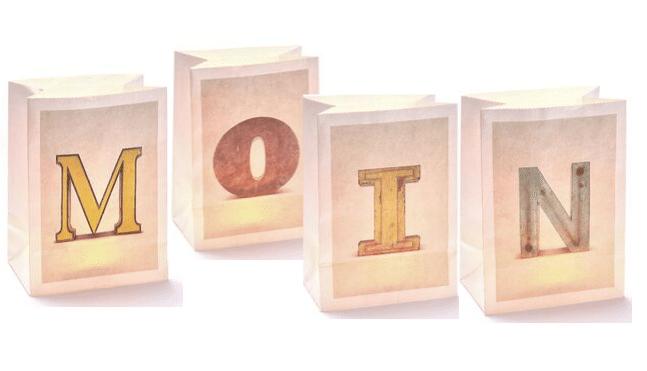 Lichttüten Buchstaben A - Z
