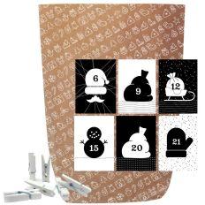 Adventskalender Set X-MAS ICON BLACK & WHITE