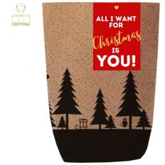 Geschenktüte X-MAS WALD ALL I WANT FOR CHRISTMAS - zum Befüllen