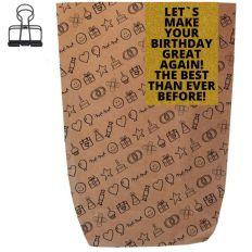 Geschenktüte MAKE YOUR BIRTHDAY GREAT AGAIN! - zum Befüllen