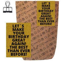 Geschenktüte + Grußkarte MAKE YOUR BIRTHDAY GREAT AGAIN! - zum Befüllen