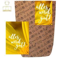 Geschenktüte + Grußkarte ALLES WIRD GUT! - zum Befüllen
