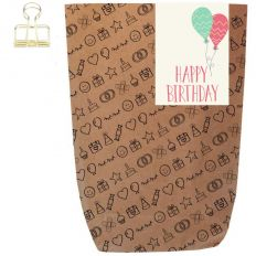 Geschenktüte HAPPY BIRTHDAY BALLONS - zum Befüllen