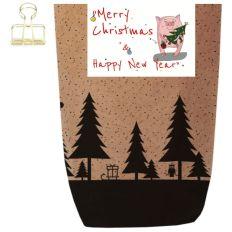 Geschenktüte X-MAS WALD - MERRY CHRISTMAS & HNY - zum Befüllen