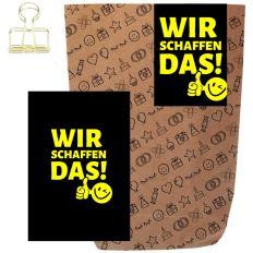 Geschenktüte + Grußkarte WIR SCHAFFEN DAS!