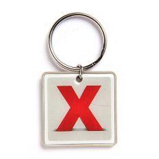 Schlüsselanhänger Buchstabe X