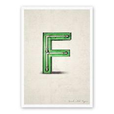 Postkarte Buchstabe F