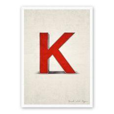 Postkarte Buchstabe K