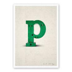 Postkarte Buchstabe P
