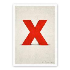 Postkarte Buchstabe X