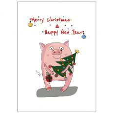 Personalisierbare Weihnachtskarte MERRY CHRISTMAS & HNY
