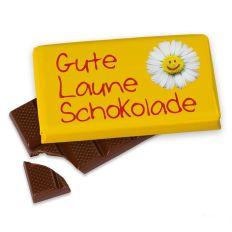 Kleine Schokolade 40g GUTE LAUNE - BLUME