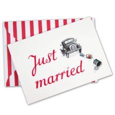 Hochzeitskarte JUST MARRIED von Krima & Isa