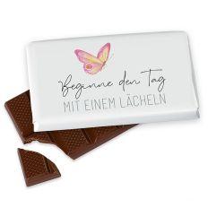 Kleine Schokolade 40g BEGINNE DEN TAG MIT EINEM LÄCHELN