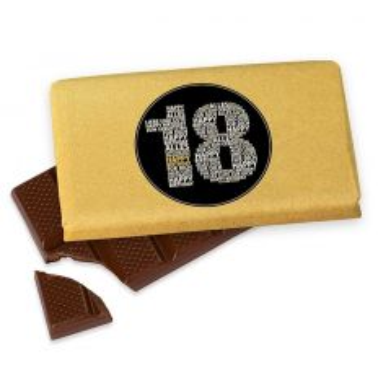 Kleine Schokolade 40g ZUM 18. GEBURTSTAG