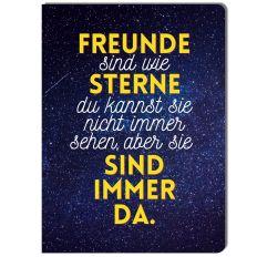 Kleines Notizheft FREUNDE SIND WIE STERNE - GFF-Edition