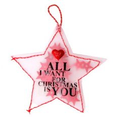 Konfettistern ALL I WANT FOR CHRISTMAS IS YOU