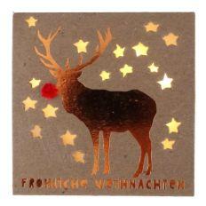 Winter Lichtbox FRÖHLICHE WEIHNACHTEN - HIRSCH