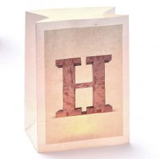 Lichttüte Buchstabe H