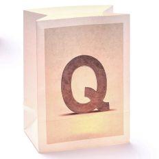 Lichttüte Buchstabe Q
