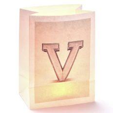 Lichttüte Buchstabe V