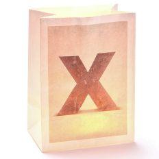 Lichttüte Buchstabe X