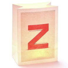 Lichttüte Buchstabe Z