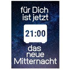 Minicard 21:00 DAS NEUE MITTERNACHT