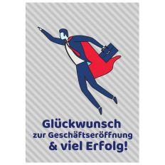 Minicard GLÜCKWUNSCH ZUR GESCHÄFTSERÖFFNUNG