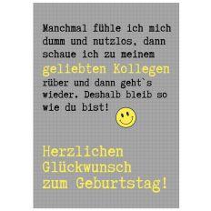 Minicard GLÜCKWUNSCH KOLLEGE!