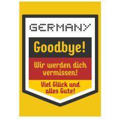 Minicard für Auswanderer GOODBYE!