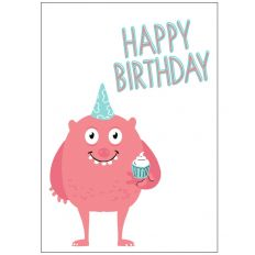 Minicard HAPPY BIRTHDAY MONSTER