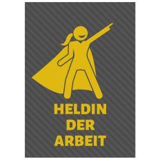 Minicard HELDIN DER ARBEIT
