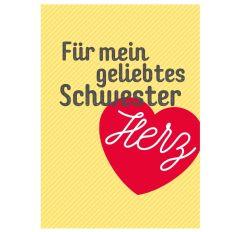 Minicard SCHWESTERHERZ