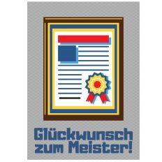 Minicard GLÜCKWUNSCH ZUM MEISTER! - Urkunde