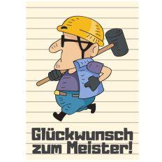 Minicard GLÜCKWUNSCH ZUM MEISTER!