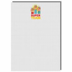Notizblock 50 Blatt SUPER TEAM