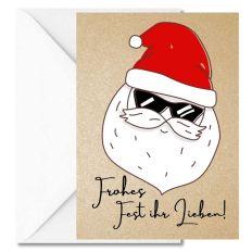Personalisierbare Weihnachtskarte FROHES FEST IHR LIEBEN!