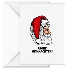 Personalisierbare Weihnachtskarte FROHE WEIHNACHTEN! - WEIHNACHTSMANN