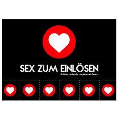 Postkarte SEX ZUM EINLÖSEN