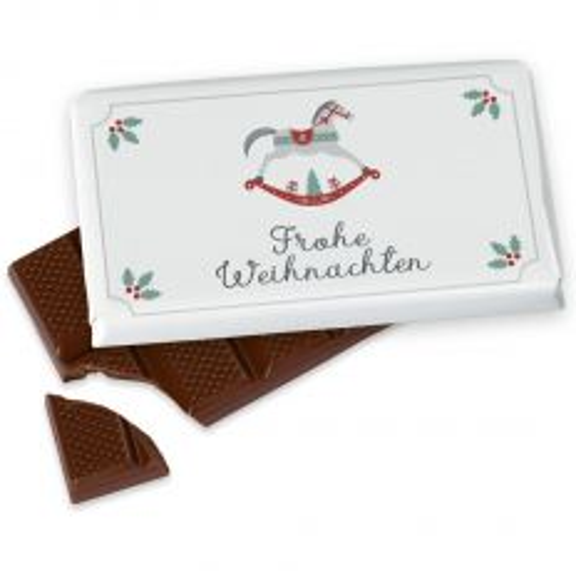 Kleine Schokolade 40g FROHE WEIHNACHTEN - Schaukelpferd