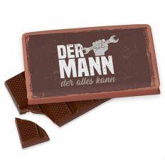 Kleine Schokolade 40g DER MANN DER ALLES KANN