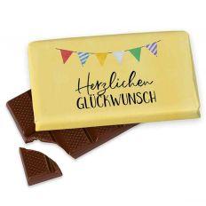 Kleine Schokolade 40g HERZLICHEN GLÜCKWUNSCH - Girlande