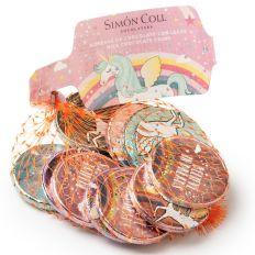 Einhorn Schokoladenmünzen im Netz