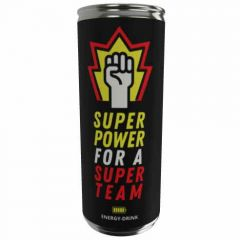 Energy Drink SUPER POWER FOR A SUPER TEAM