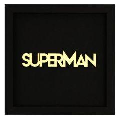 Holzschriftzug im Rahmen SUPERMAN