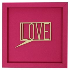 Holzschriftzug im Rahmen LOVE