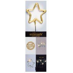 Wunderkerze STERN - gold -