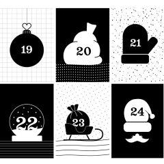 Adventskalender Zahlen 1- 24 GFF BLACK & WHITE