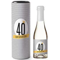 Deutscher Perlwein GLÜCKWUNSCH ZUM 40. GEBURTSTAG
